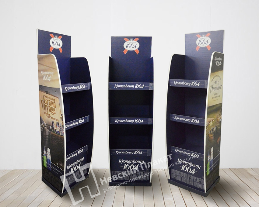 Рекламный дисплей (стенд) из конструкционного картона